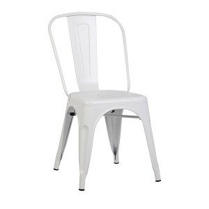 White Matte Metal Chair