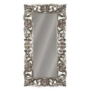 Silver Leaning Mirror
