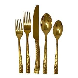 Gold Flatware - Hammered