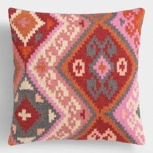 *Alya Pink/Red Kilim Pillow