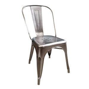 Vintage Gray Metal Chair