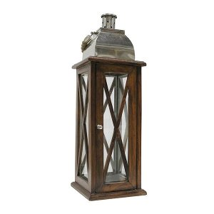 Nautical Wood & Metal Lantern