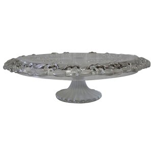 Floral Glass Cake Stand