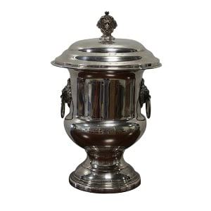 Lila - Silver Lion Head Urn