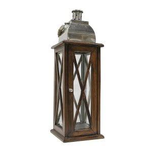 Nautical Wood & Metal Lantern