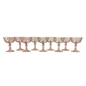 Pink Swirl Champagne Coupe Collection