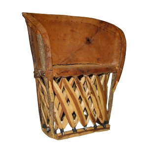 Equipale - Leather Barrel Chair (Vintage)