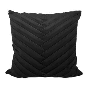 Black Pleated Pillow