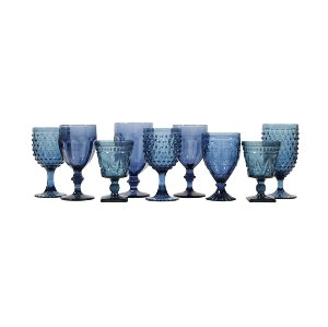 Dusky Blue Glassware Mix