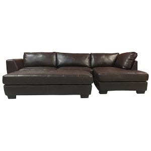 Donte - Leather Sectional w/ Ottoman