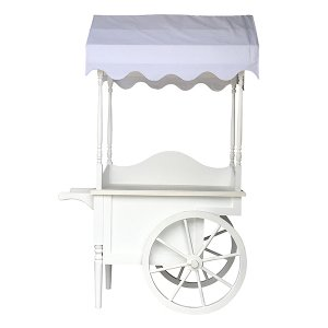 Emmy - White Display Canopy Cart