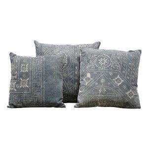 Blue Mudcloth Pillows