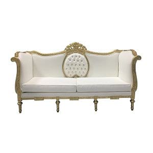 Gopal White Sofa
