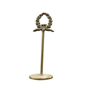Laurel Wreath Card Holder - Antique Brass