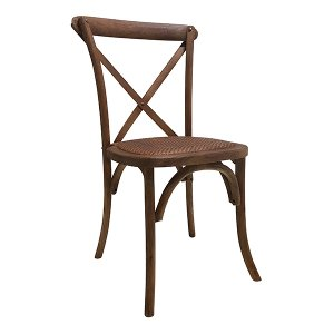 Chestnut Crossback Chair - Cane Seat