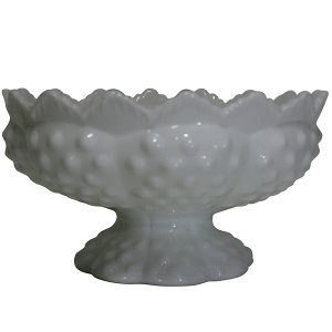 White Milk Glass Candle Holder