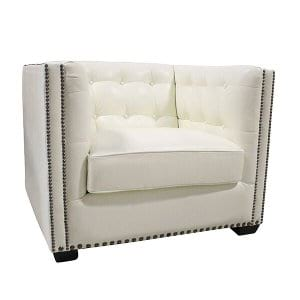 Belaire - Leather Tufted Club Chair