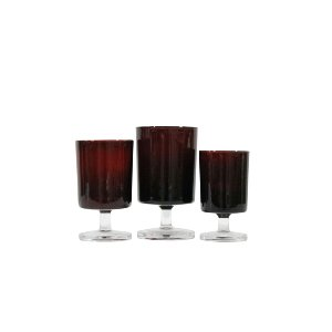 Cranberry Stemware Set