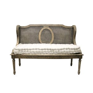 Bernadina French Cane Wingback Bench
