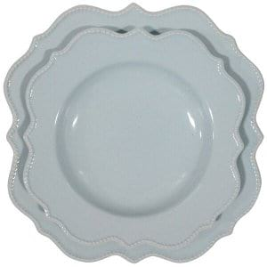 Pale Blue Scalloped Plates