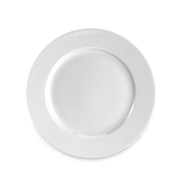 White Rim Salad Plate