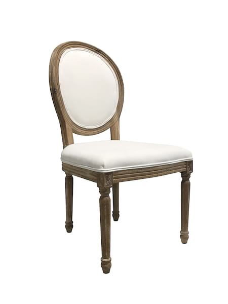 Davis - Oval Back Chair (white fabric)