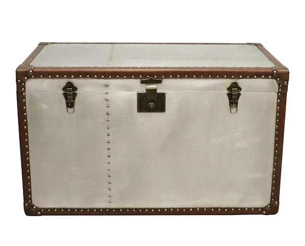 Stainless and Leather Trunk