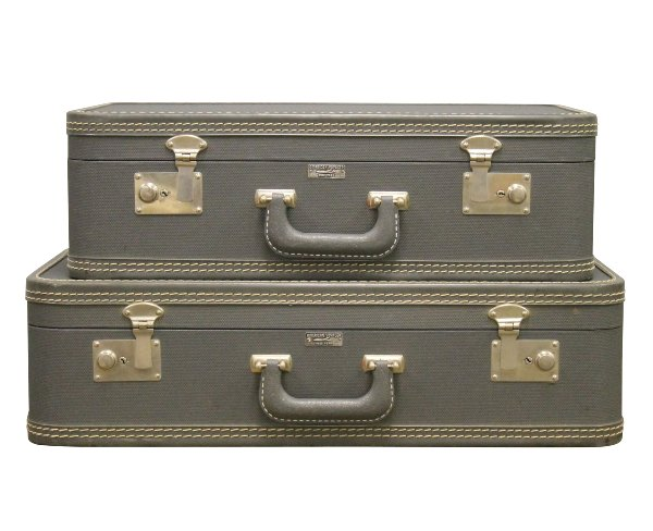 Vintage Blue Luggage-Set of 2