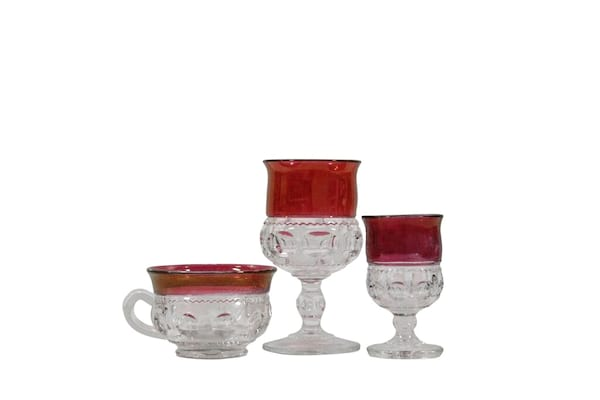 Ruby Kings Crown Goblet Set