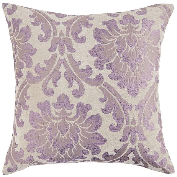 Lilac Damask Pillow