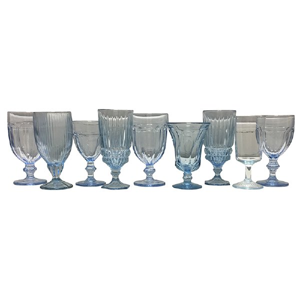 Ice Blue Glassware Mix