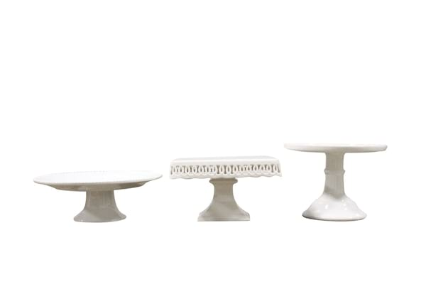 White Ceramic Cake Stands