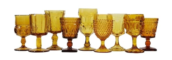 Dark Amber Glassware Mix