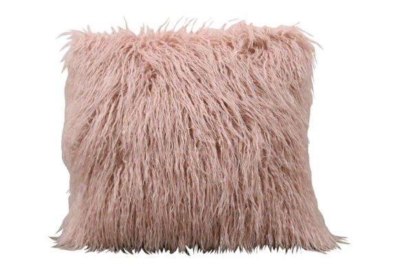 Pink Fur Pillow