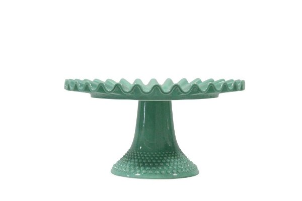 Pastel Green Hobnail Cake Stand