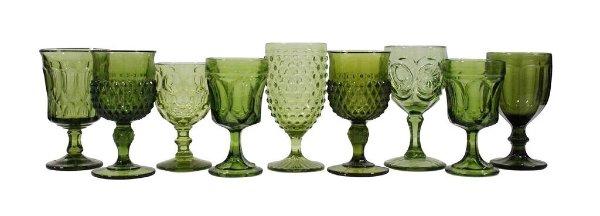 Green Glassware Mix