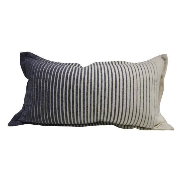 Blue/cream lumbar pillow