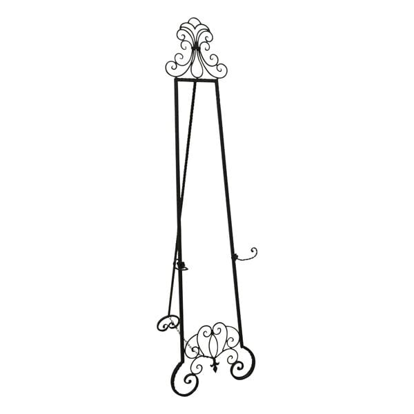 Black Iron Scroll Design Floor Stand Easel