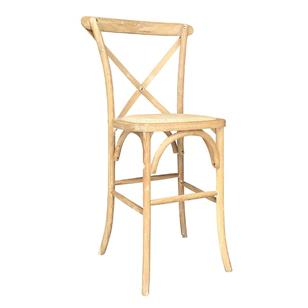 Honey Washed Crossback Bar Stool