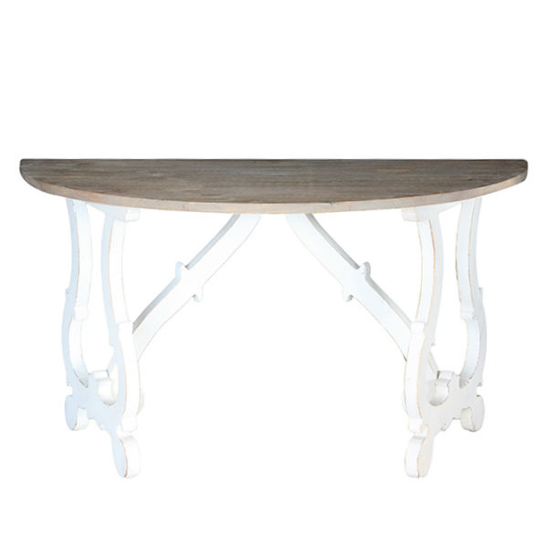 Evelyn Demilune Table