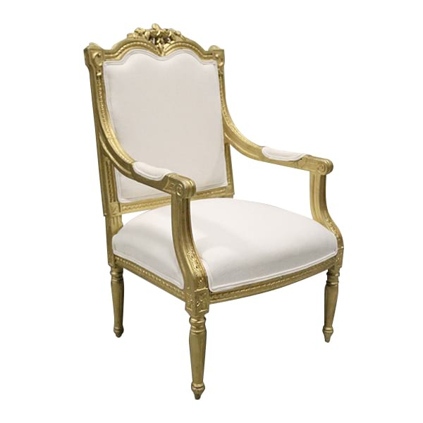 French Gilded Arm Chair - Queen