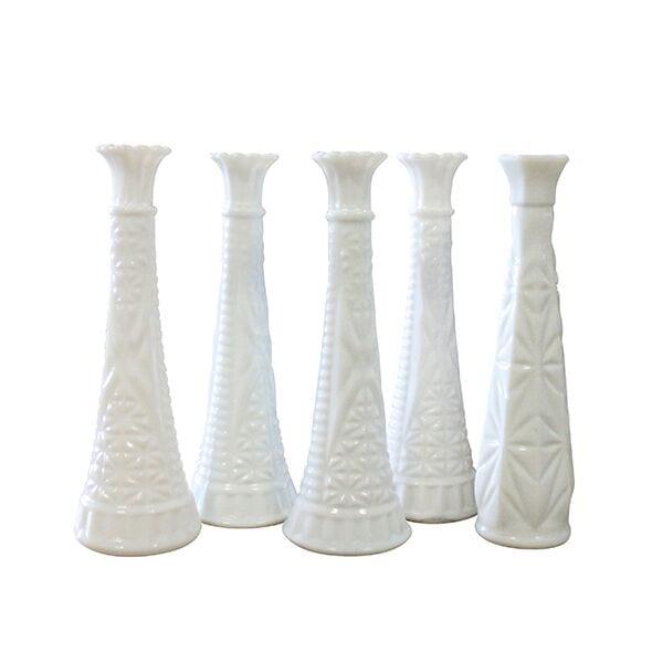 Skinny Milk Glass Vase