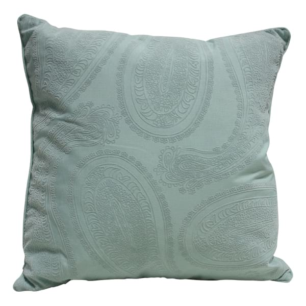 Mint Paisley Pillow