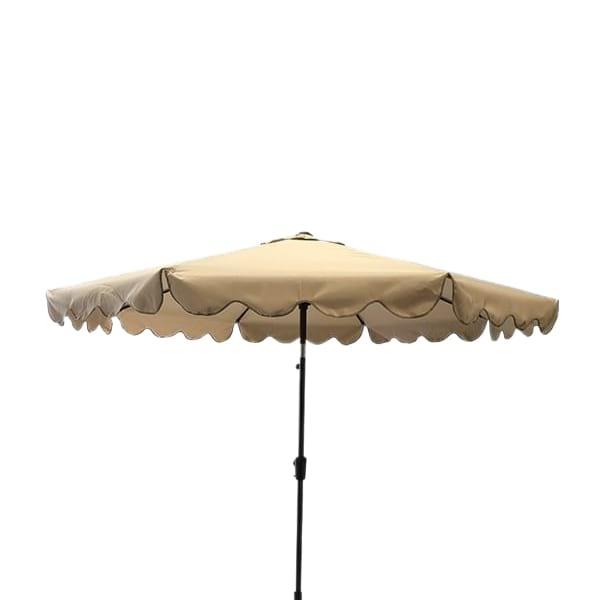 Scalloped Umbrella - Beige