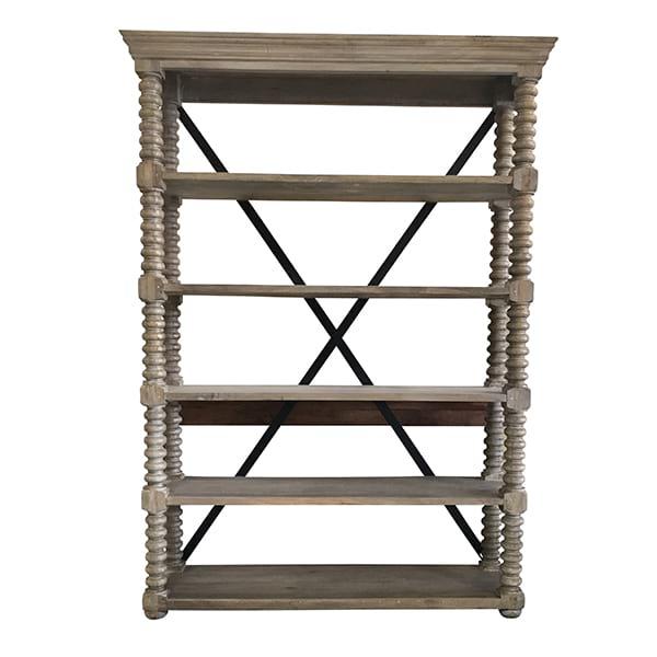 Franklin - French Grey 5 Shelf Rack