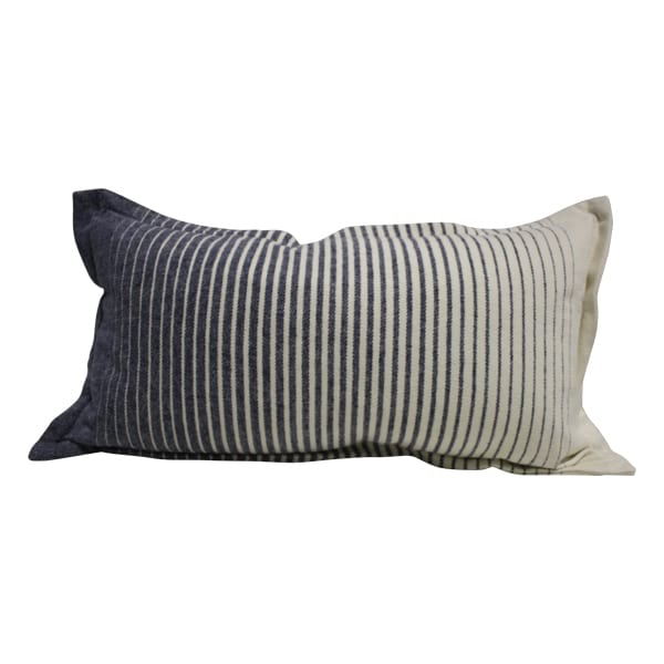 Blue/cream lumbar pillow