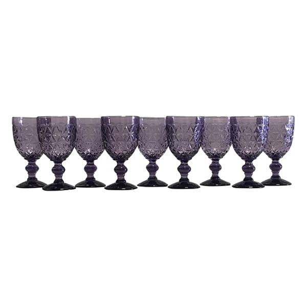 Lavender Diamond Cut Goblet - Bulk