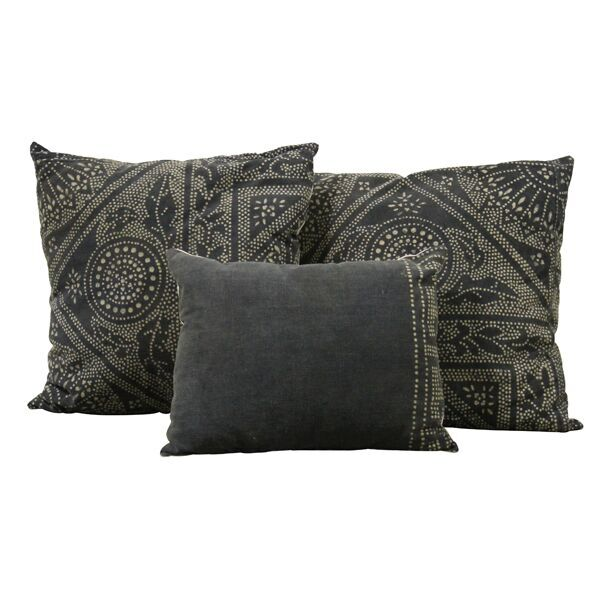 Black Mudcloth Pillow