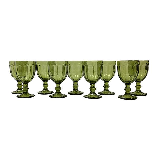 Green Clear Goblet - Bulk