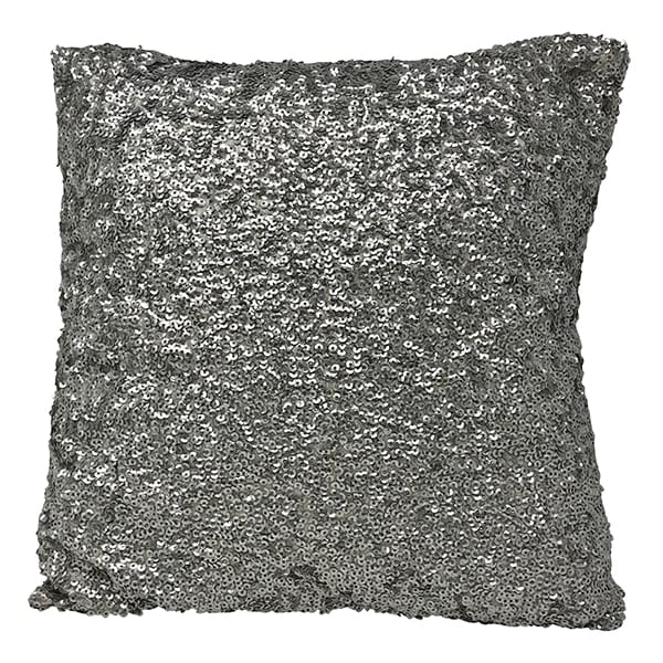 Silver Sequence Pillow